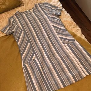 Anthropologie striped linen dress by Paper Crane